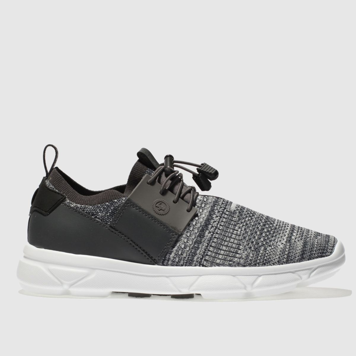 Hype Hype Grey Knit Runner Trainers