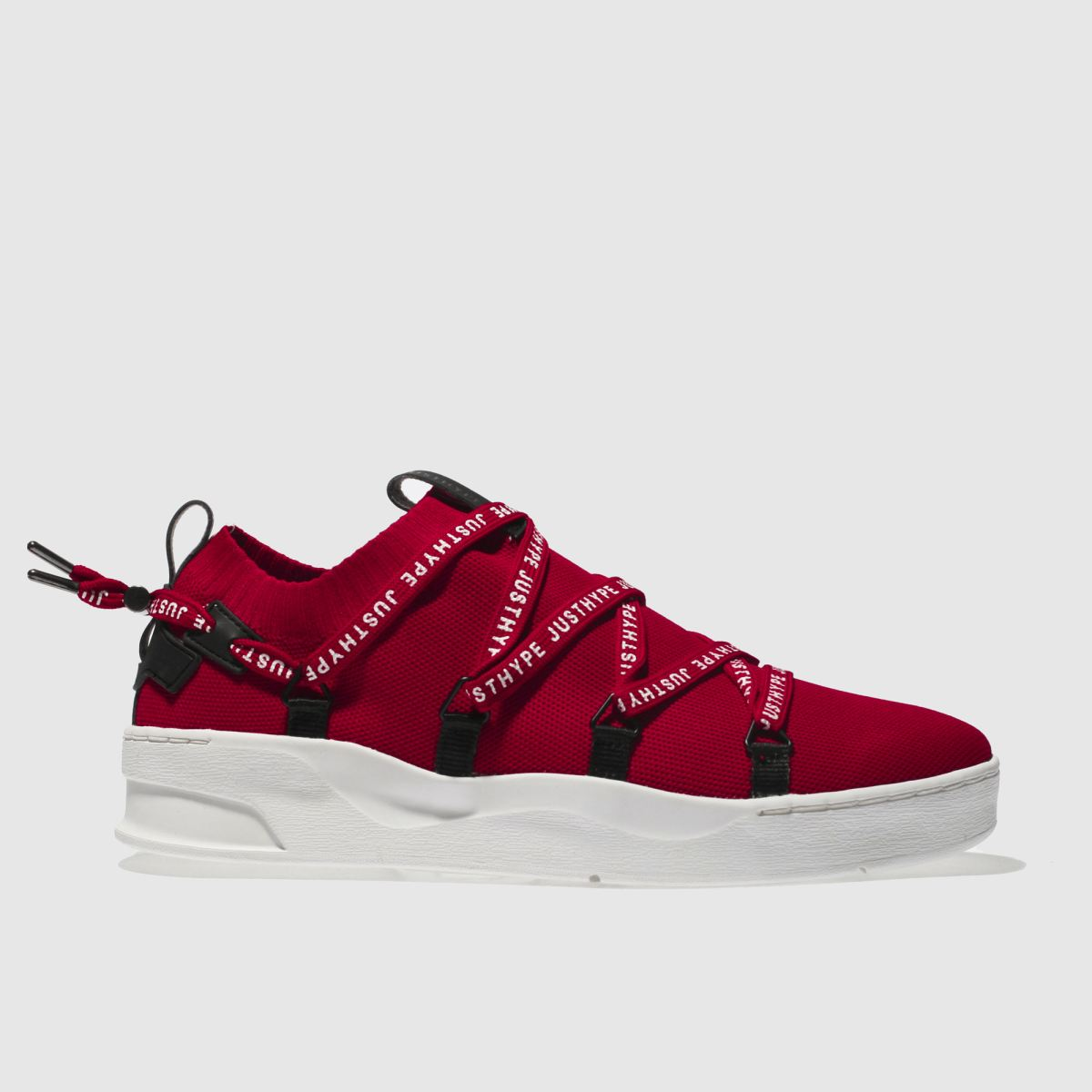 Hype Hype Red Branded Tape Cup Trainers