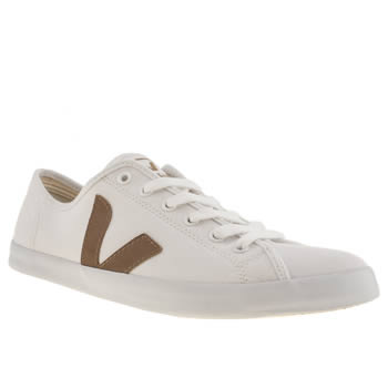 mens veja white & brown taua trainers