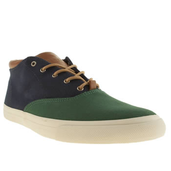 mens veja navy & green transatlantico trainers