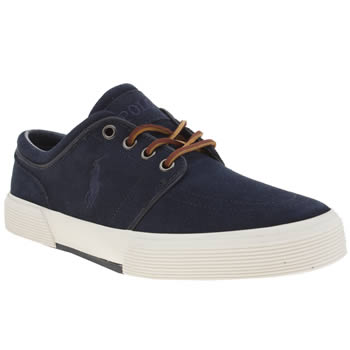 Mens Polo Ralph Lauren Navy Faxon Low Trainers