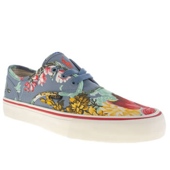 Mens Polo Ralph Lauren Multi Morray Hawaiian Floral Trainers