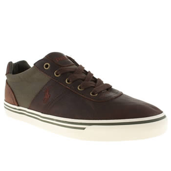Mens Polo Ralph Lauren Brown Hanford Shoes