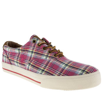 Mens Polo Ralph Lauren Pink Vaughn Shoes