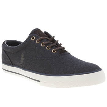 Mens Polo Ralph Lauren Navy Vaughn Trainers