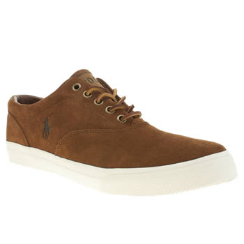 Mens Polo Ralph Lauren Brown Vaughn Trainers