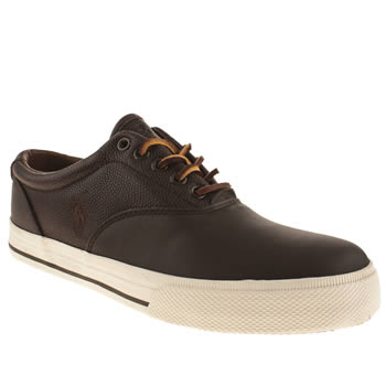 Mens Polo Ralph Lauren Dark Brown Vaughn Shoes