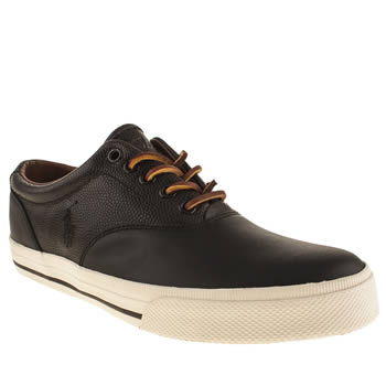 Mens Polo Ralph Lauren Black Vaughn Shoes