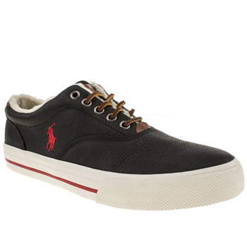 Polo Ralph Lauren Black & Red Vaughn Shoes