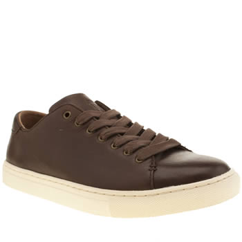 Mens Polo Ralph Lauren Dark Brown Jermain Trainers