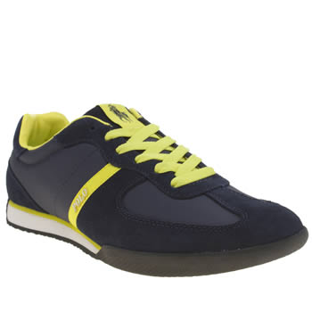 Polo Ralph Lauren Navy & Yellow Jacory Trainers