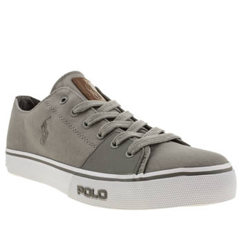 mens polo ralph lauren light grey cantor low shoes