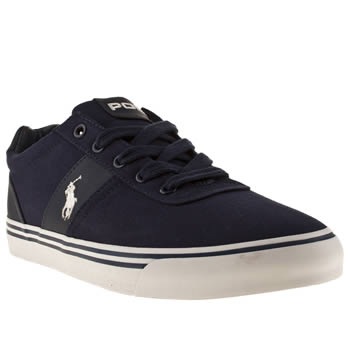 mens polo ralph lauren navy & white hanford cv shoes