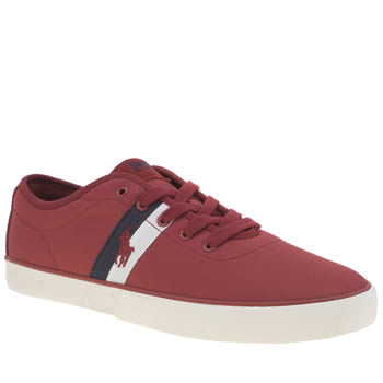 Mens Polo Ralph Lauren Red Halford Trainers