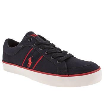 mens polo ralph lauren navy & red bolingbrook ii shoes