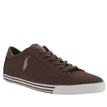 Mens Polo Ralph Lauren Burgundy Harvey Cv Shoes