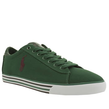 Mens Polo Ralph Lauren Green Harvey Ne Shoes