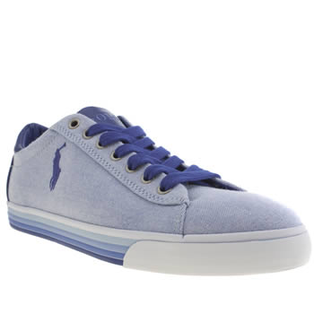 Mens Polo Ralph Lauren Pale Blue Harvey Cv Shoes