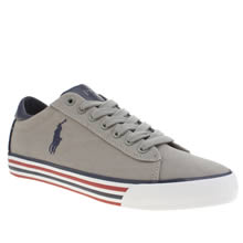 Polo Ralph Lauren Light Grey Harvey Cv Mens Trainers