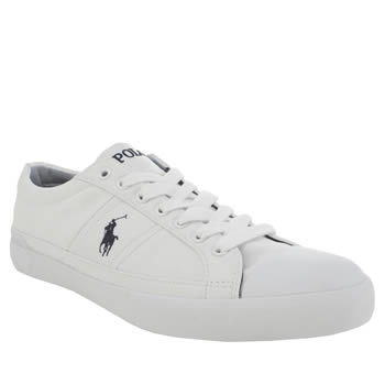Mens Polo Ralph Lauren White & Black Churston Ne Trainers