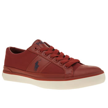 Polo Ralph Lauren Red Churston Mens Trainers