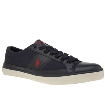 Mens Polo Ralph Lauren Navy & Red Churston Trainers