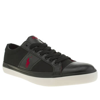 Mens Polo Ralph Lauren Black & Red Churston Ne Trainers