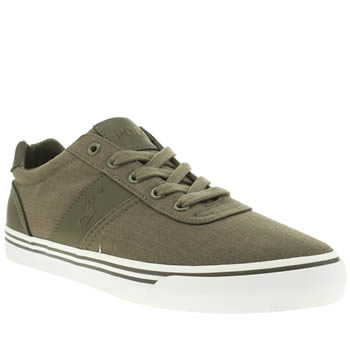 Polo Ralph Lauren Khaki Hanford Fabric Trainers