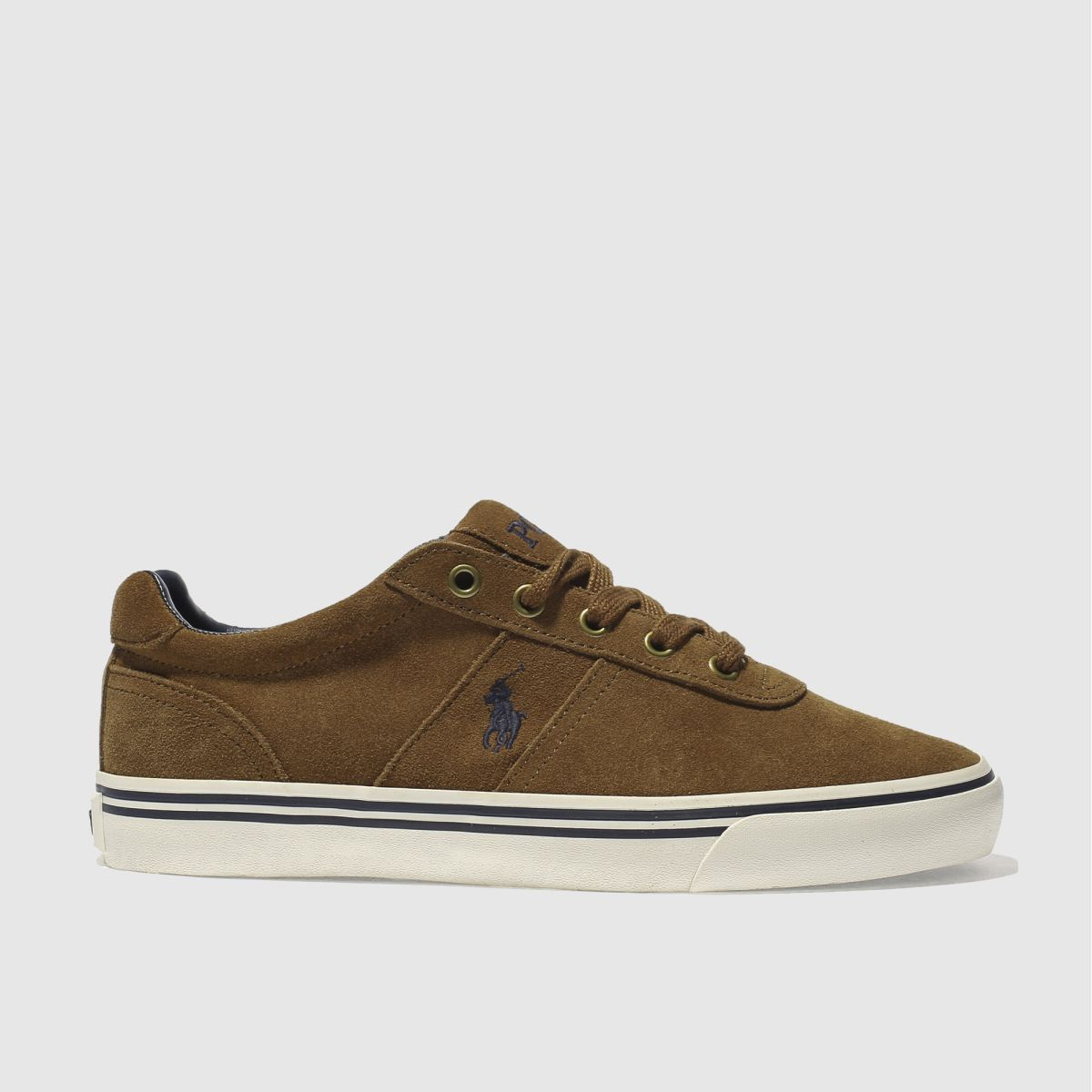 polo ralph lauren tan hanford trainers