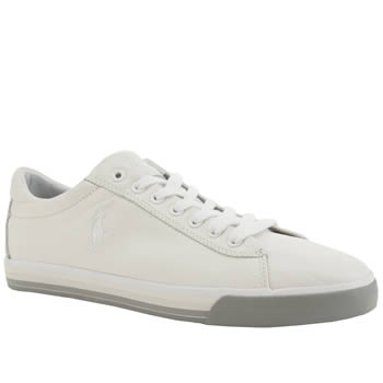 Mens Polo Ralph Lauren White Harvey Le Shoes