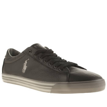 Mens Polo Ralph Lauren Black Harvey Le Shoes