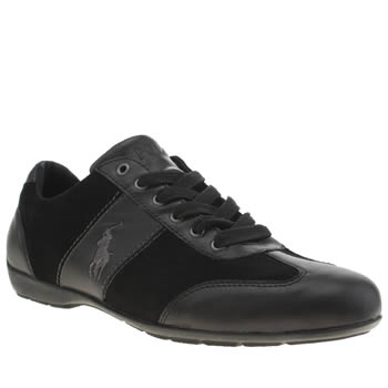 Polo Ralph Lauren Black & Grey Lewes Shoes