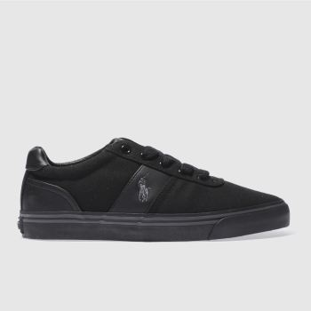 Mens Polo Ralph Lauren Black Hanford Shoes