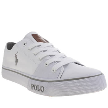 mens white polo ralph cantor low 2 shoes