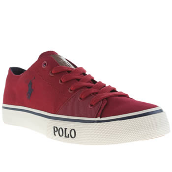 Mens Polo Ralph Lauren Red Cantor Low 2 Shoes