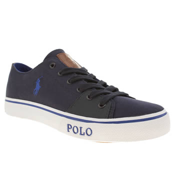 Mens Polo Ralph Lauren Navy Cantor Low 2 Shoes