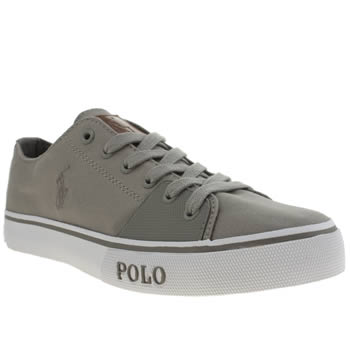 Mens Polo Ralph Lauren Grey Cantor Low Shoes