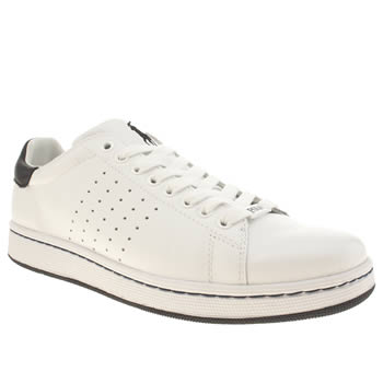 Mens Polo Ralph Lauren White & Navy Wilton Shoes