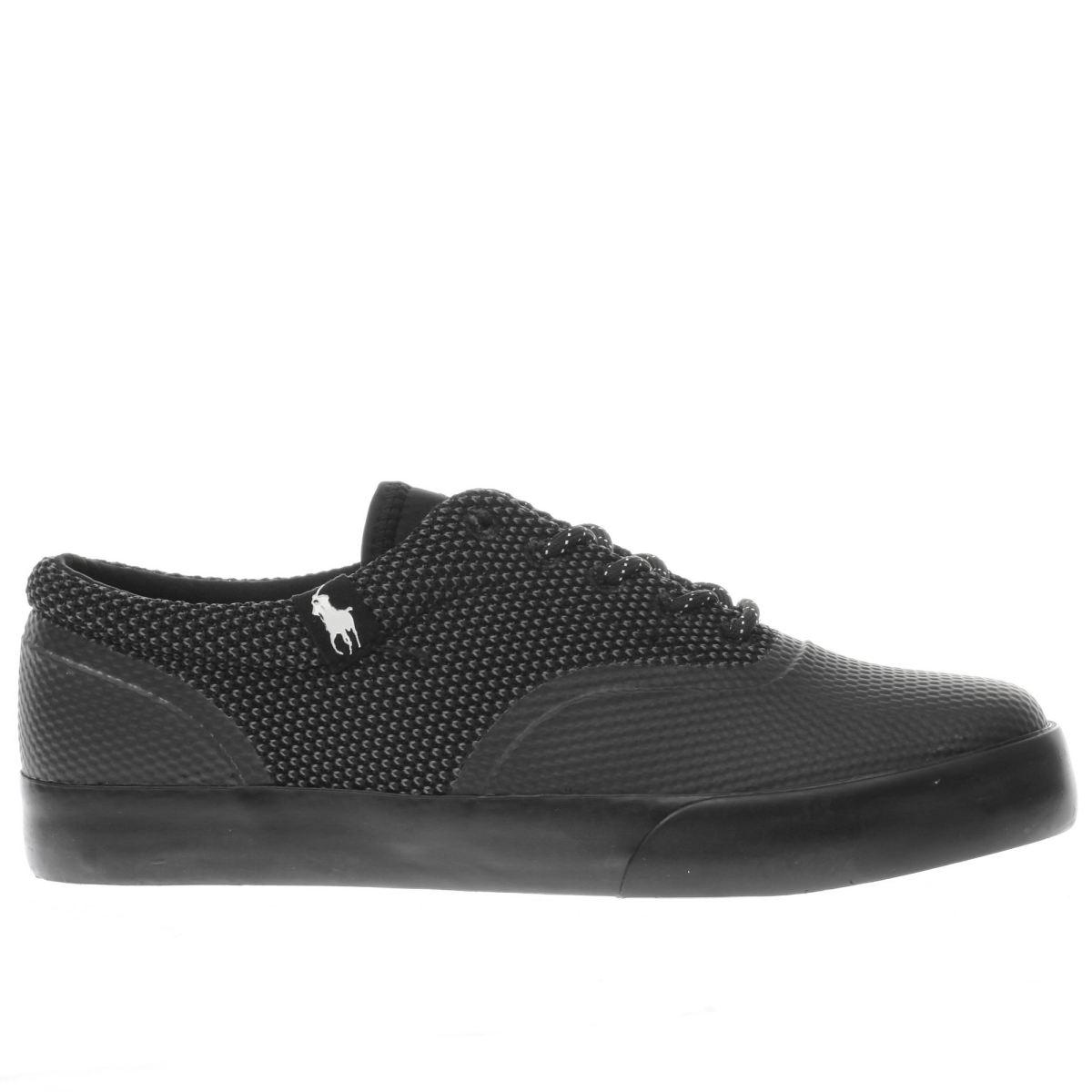 polo ralph lauren black vernon trainers