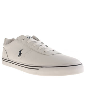 Mens Polo Ralph Lauren White Hanford Trainers