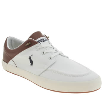 Mens Polo Ralph Lauren White Jarred Shoes