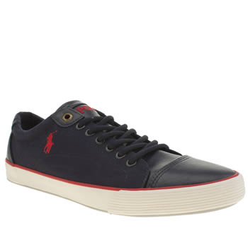 Mens Polo Ralph Lauren Navy & Red Klinger Shoes