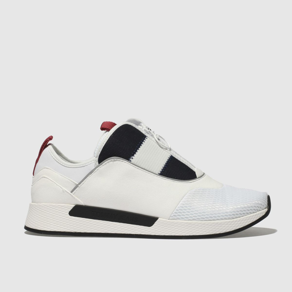 Tommy Hilfiger Tommy Hilfiger White & Navy Tj Icon Sport Flexi Sneaker Trainers