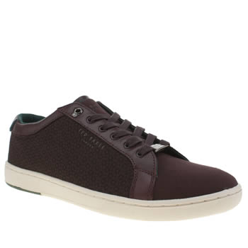 Ted Baker Burgundy Keeran Mens Trainers