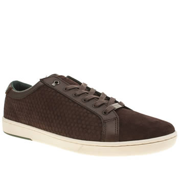 Ted Baker Brown & Pl Blue Slowne 2 Mens Trainers