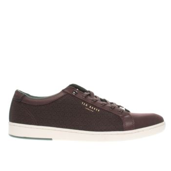 Ted Baker Burgundy Keeran 4 Mens Trainers