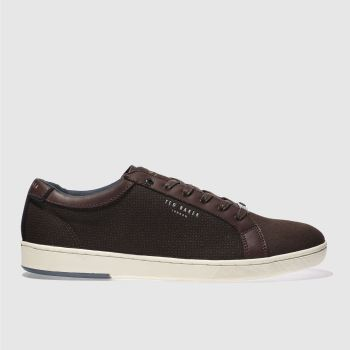 Ted Baker Burgundy Ternur Mens Trainers
