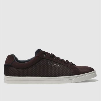 Ted Baker Burgundy Sarpio Mens Trainers
