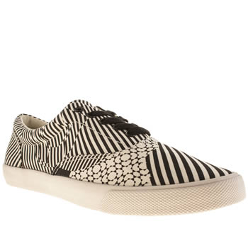 Mens Bucketfeet Black & White Kinetics Shoes