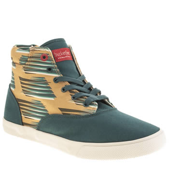 Bucketfeet Turquoise Swopes Mid Shoes